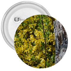 Yellow Bells Large Button (round) by Elanga