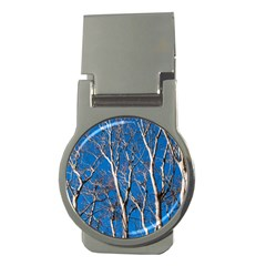 Trees On Blue Sky Money Clip (round)