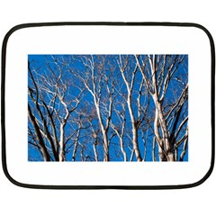 Trees On Blue Sky Twin Sided Mini Fleece Blanket