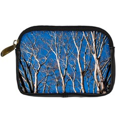 Trees On Blue Sky Compact Camera Case by Elanga