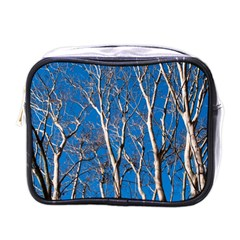 Trees On Blue Sky Single Sided Cosmetic Case by Elanga