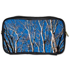 Trees On Blue Sky Twin Sided Personal Care Bag by Elanga