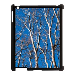 Trees On Blue Sky Apple Ipad 3/4 Case (black) by Elanga