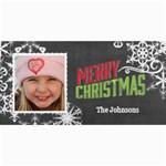 ChalkBoard Merry Christmas Color - 4  x 8  Photo Cards