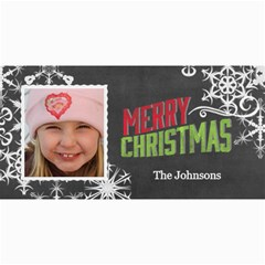 Chalkboard Merry Christmas Color By Marcee Duggar   4  X 8  Photo Cards   Natehwrcdaw6   Www Artscow Com 8 x4 Photo Card - 4