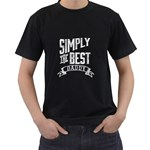Best Daddy TShirt - Men s T-Shirt (Black)
