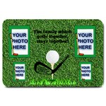 Golfer s large door mat - Large Doormat