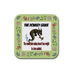 Donkey Genie 2 Rubber Square Coaster (4 pack)