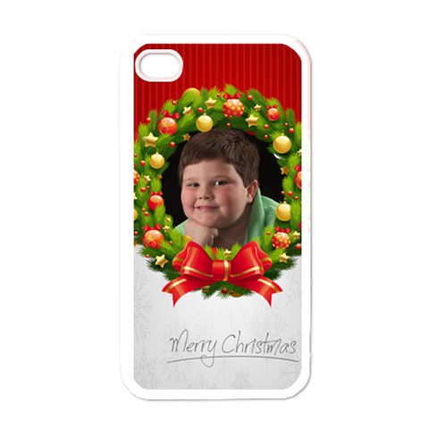 Jordan Christmas Iphone Case By Eleanor Norsworthy   Apple Iphone 4 Case (white)   Qy3i0zruybla   Www Artscow Com Front
