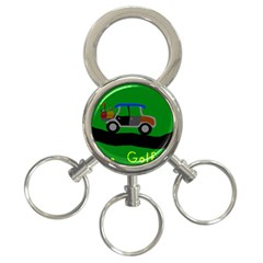 Gone Golfin 3 Ring Key Chain by golforever12