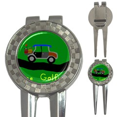 Gone Golfin Golf Pitchfork & Ball Marker by golforever12