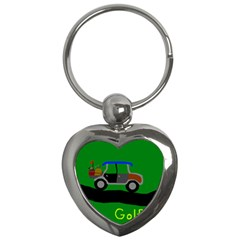 Gone Golfin Key Chain (heart) by golforever12