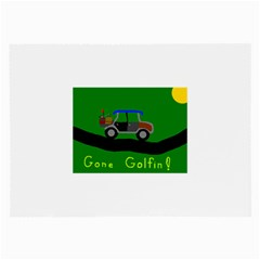 Gone Golfin Single Sided Handkerchief by golforever12