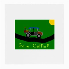 Gone Golfin Twin-sided Large Glasses Cleaning Cloth by golforever12