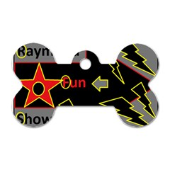 Raymond Fun Show 2 Twin Sided Dog Tag (bone)