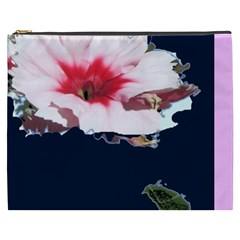 Pink Flower Xxxl Makeup Bag By Riksu   Cosmetic Bag (xxxl)   2p1rek9fkeem   Www Artscow Com Front