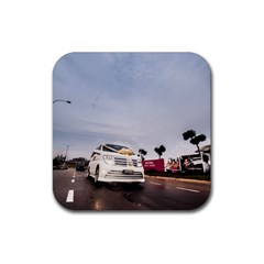 Wedding Car Rubber Drinks Coaster (square)