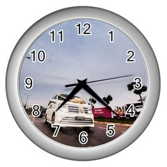 Wedding Car Silver Wall Clock