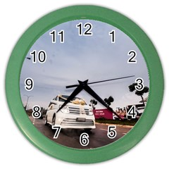Wedding Car Colored Wall Clock