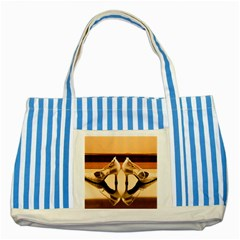 23 Blue Striped Tote Bag by Unique1Stop