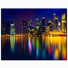Night View 11  x 14  Unframed Canvas Print by Unique1Stop