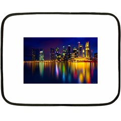 Night View Twin Sided Mini Fleece Blanket