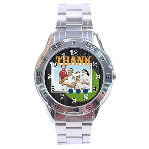 Fathers Day By Dad   Stainless Steel Analogue Watch   Wfn4en5qsut2   Www Artscow Com Front
