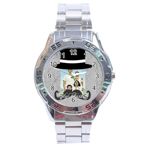 Fathers Day By Dad   Stainless Steel Analogue Watch   Nt6sur16g8c7   Www Artscow Com Front