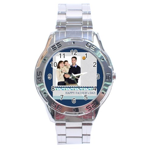 Fathers Day By Dad   Stainless Steel Analogue Watch   Npa2vrx5kpar   Www Artscow Com Front