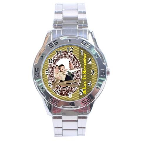 Fathers Day By Dad   Stainless Steel Analogue Watch   Pueqcm4i7i0m   Www Artscow Com Front
