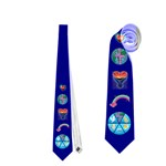 Dark Blue Church Tie - Necktie (Two Side)