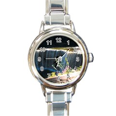 Waterfall Classic Elegant Ladies Watch (round) by awesomesauceshop