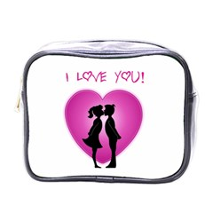 I Love You Kiss Single Sided Cosmetic Case by anasuya