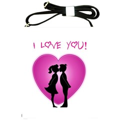 I Love You Kiss Cross Shoulder Sling Bag by anasuya