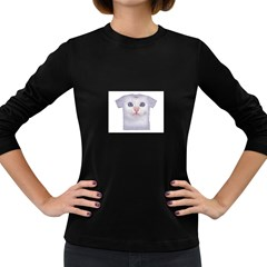 Cute Cat Dark Colored Long Sleeve Womens'' T Shirt by SweetCat