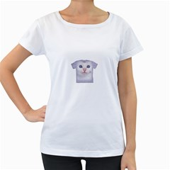 Cute Cat White Oversized Womens'' T Shirt by SweetCat