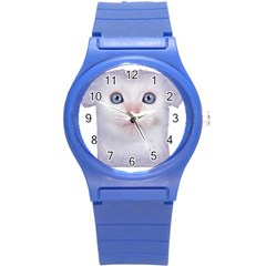 Cute Cat Round Plastic Sport Watch Small by SweetCat