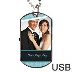 Wedding By Paula Green   Dog Tag Usb Flash (two Sides)   9ibgcuufmifz   Www Artscow Com Front