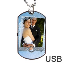 Wedding By Paula Green   Dog Tag Usb Flash (two Sides)   4lgvetm7awnv   Www Artscow Com Back