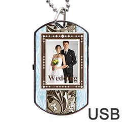 Wedding By Paula Green   Dog Tag Usb Flash (two Sides)   6qjzkja9xzeg   Www Artscow Com Back