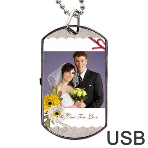 Wedding By Paula Green   Dog Tag Usb Flash (one Side)   Qnfiuhs46m7y   Www Artscow Com Front