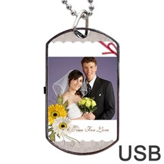 Wedding By Paula Green   Dog Tag Usb Flash (two Sides)   7j6phmd2tar1   Www Artscow Com Front