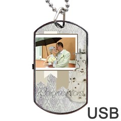 Wedding By Paula Green   Dog Tag Usb Flash (two Sides)   5q8v1jnbxv9y   Www Artscow Com Front