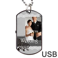Wedding By Paula Green   Dog Tag Usb Flash (two Sides)   Fjceq84onxby   Www Artscow Com Front