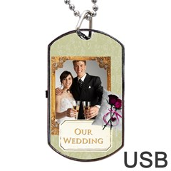 Wedding By Paula Green   Dog Tag Usb Flash (two Sides)   2iz62hsgb0f9   Www Artscow Com Back
