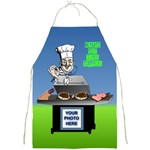 King of the Grill s apron - Full Print Apron