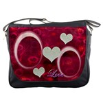 I Heart You Pink Messenger Bag
