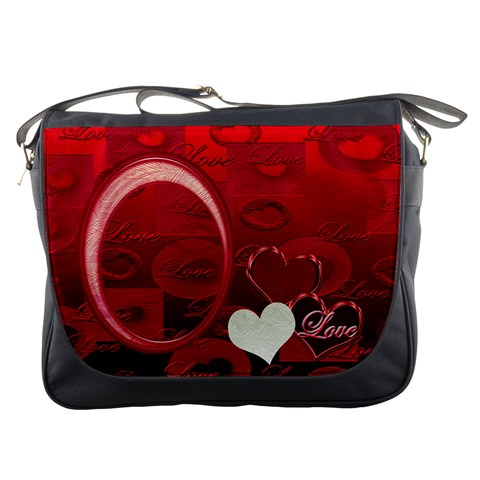 I Heart You Red Messenger Bag By Ellan   Messenger Bag   Opzrmz1la3qk   Www Artscow Com Front