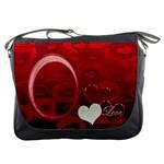 I Heart You Red Messenger Bag