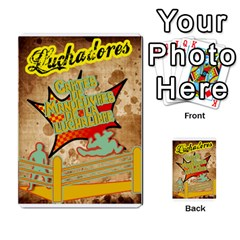 Lucha Cartas Manoeuvres X4 By Gabzeta   Multi Purpose Cards (rectangle)   3s9uaw6z7pfd   Www Artscow Com Back 9